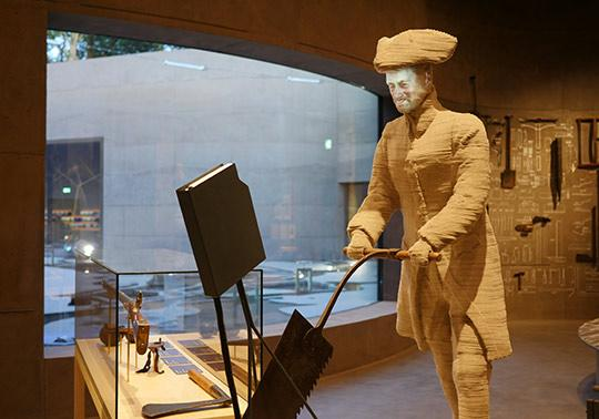 soldaat vilt sculptuur waterlinie museum