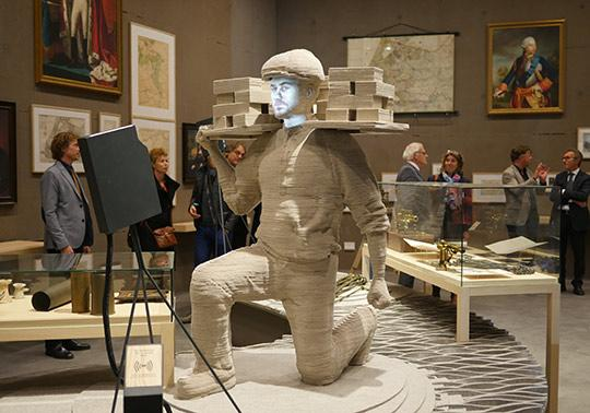 vilt sculptuur model werkman waterlinie museum, annerose