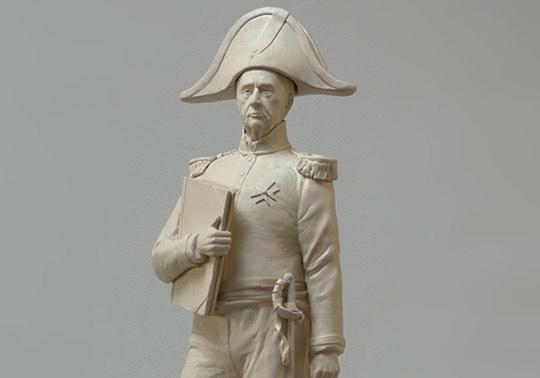 waterliniemuseum, Kraijenhoff, sculpture, human model, modeling, annerose, historical character, clay