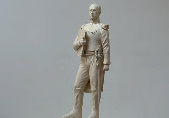 waterlinie museum, Kraijenhoff, sculpture, human model, modeling, annerose, historical character, clay