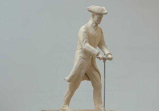 soldaat schaalmodel sculptuur waterlinie museum